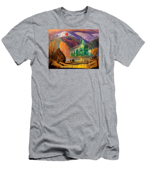 Men's T-Shirt (Slim Fit) featuring the painting Oz, An American Fairy Tale by Art West