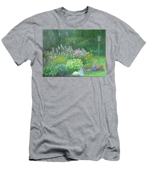 An Angel In My Garden Men's T-Shirt (Slim Fit) by Bonita Waitl