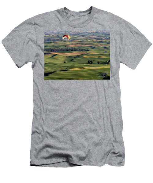 An Evening Flight Agriculture Art By Kaylyn Franks Men's T-Shirt (Athletic Fit)