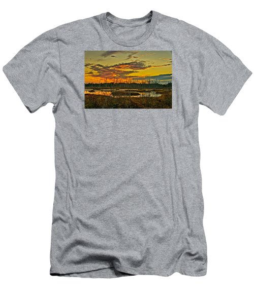 An November Sunset In The Pines Men's T-Shirt (Athletic Fit)