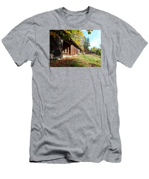 An Old Farm Men's T-Shirt (Slim Fit) by Mark Alan Perry