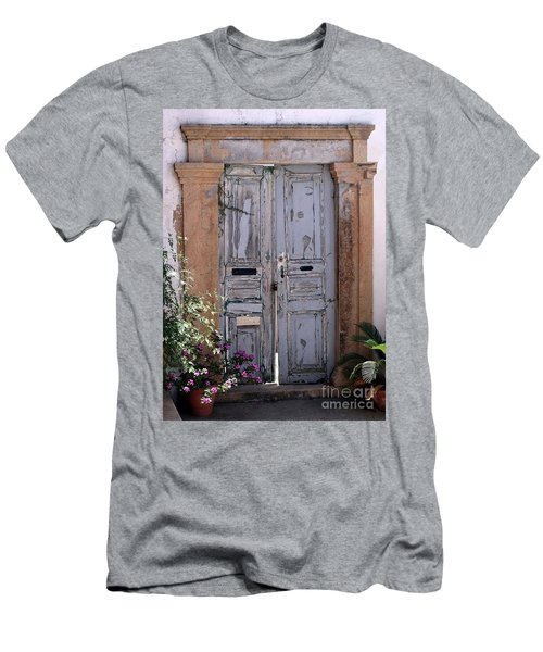 Ancient Garden Doors In Greece Men's T-Shirt (Athletic Fit)