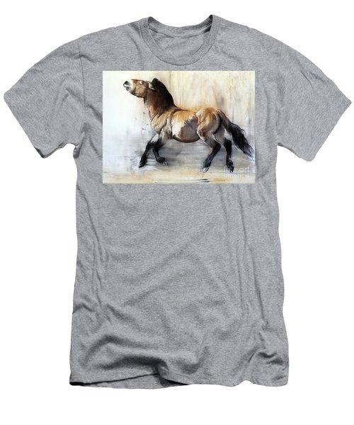 Ancient Horse Przewalski In Winter Men's T-Shirt (Athletic Fit)
