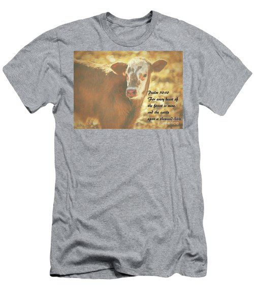 And The Cattle Men's T-Shirt (Slim Fit) by Janice Rae Pariza