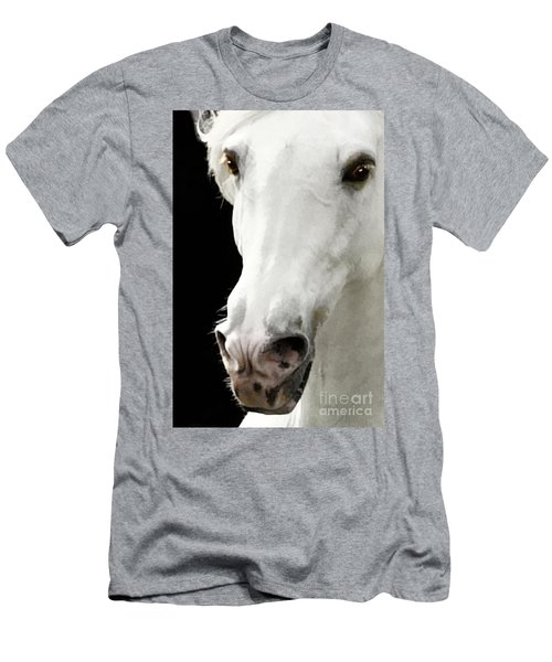 Men's T-Shirt (Athletic Fit) featuring the photograph Andalusian Stallion by Melinda Hughes-Berland
