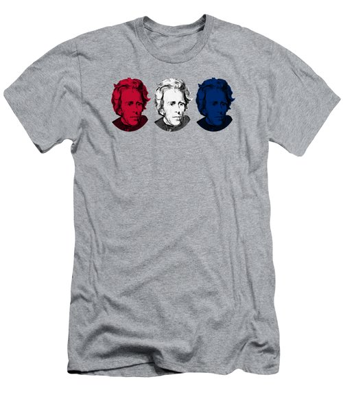 Andrew Jackson Red White And Blue Men's T-Shirt (Athletic Fit)