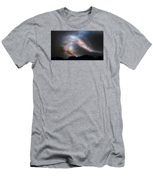 Andromeda-galaxy Men's T-Shirt (Athletic Fit)