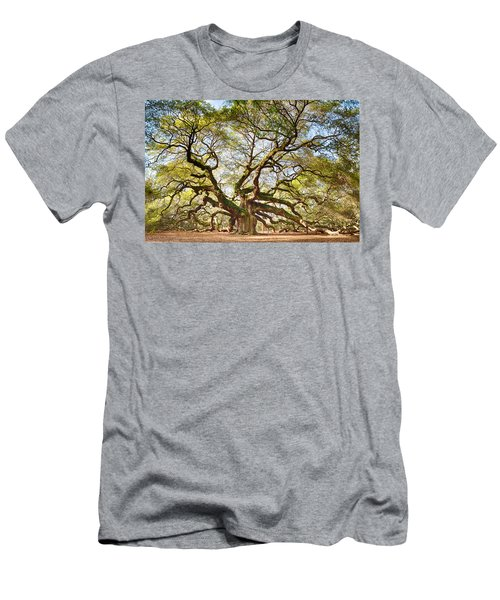 Men's T-Shirt (Slim Fit) featuring the photograph Angel Oak In Spring by Patricia Schaefer