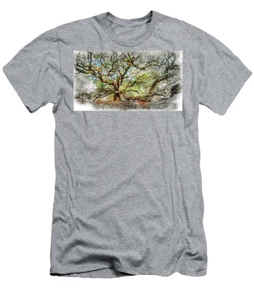 Angel Oak Mixed Media Men's T-Shirt (Athletic Fit)
