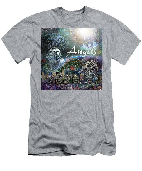 Men's T-Shirt (Slim Fit) featuring the digital art Angels by Evie Cook