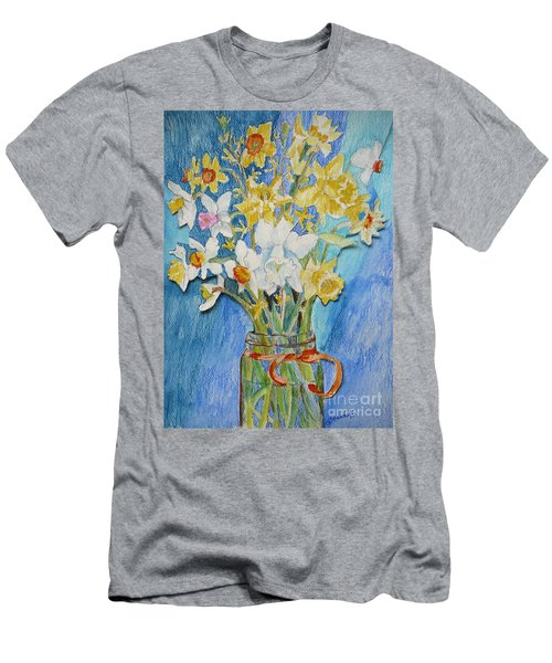 Angels Flowers Men's T-Shirt (Athletic Fit)