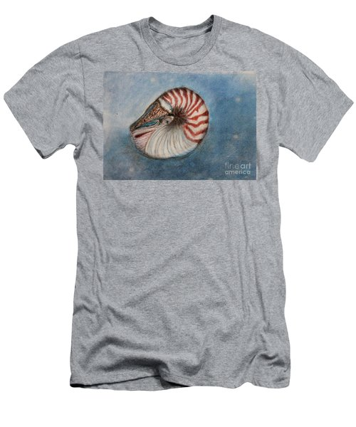 Men's T-Shirt (Slim Fit) featuring the painting Angel's Seashell  by Kim Nelson
