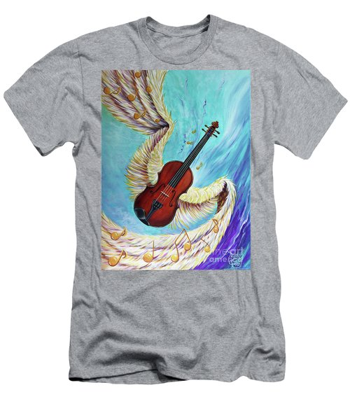 Men's T-Shirt (Athletic Fit) featuring the painting Angel's Song by Nancy Cupp
