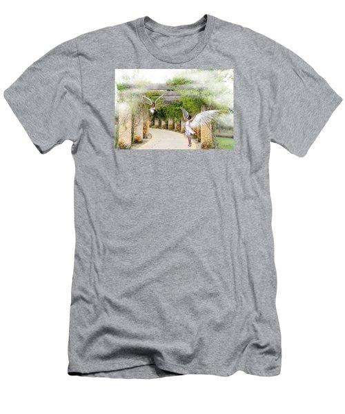 Angels Under The Arbor Men's T-Shirt (Slim Fit) by Rosalie Scanlon