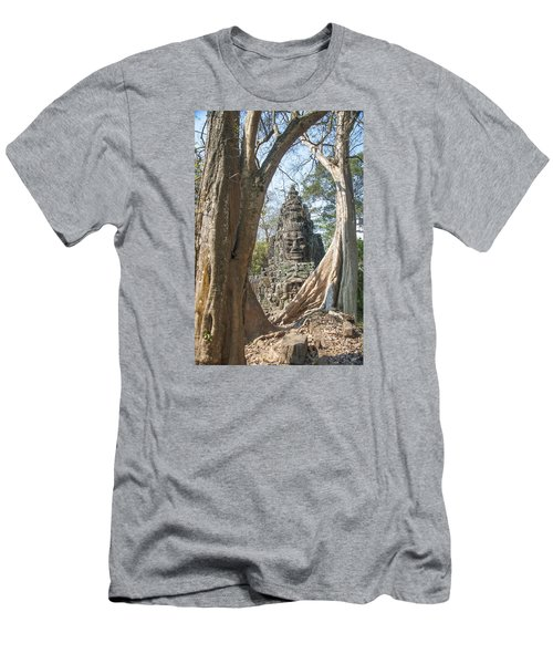 Men's T-Shirt (Slim Fit) featuring the photograph Angkor Thom South Gate by Rob Hemphill