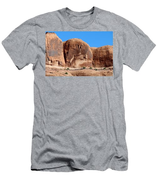 Angry Rock - 3  Men's T-Shirt (Athletic Fit)