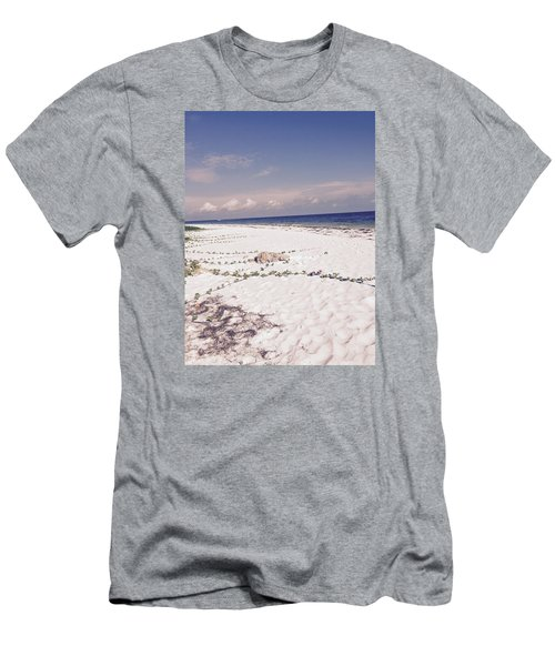 Men's T-Shirt (Slim Fit) featuring the photograph Anna Maria Island Beyond The White Sand by Jean Marie Maggi