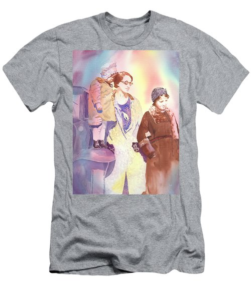 Anna Nation And Her Girls, 1932      Men's T-Shirt (Slim Fit) by Tara Moorman