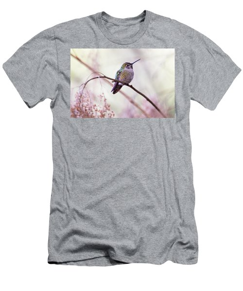 Annas Hummingbird Men's T-Shirt (Slim Fit) by Peggy Collins