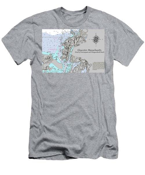 Annisquam And Wingaersheek Beach Men's T-Shirt (Athletic Fit)