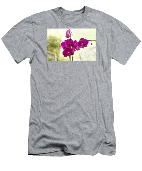 Men's T-Shirt (Slim Fit) featuring the photograph Anniversary Orchids by Joan Bertucci