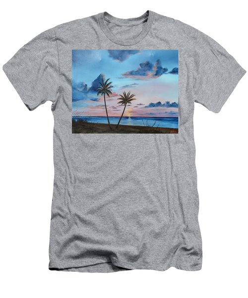Another Paradise Sunset Men's T-Shirt (Slim Fit) by Lloyd Dobson