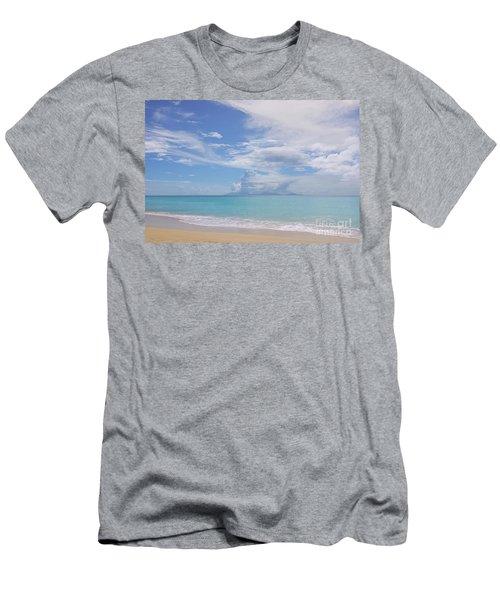 Antigua Beach View Of Montserrat Volcano Men's T-Shirt (Athletic Fit)
