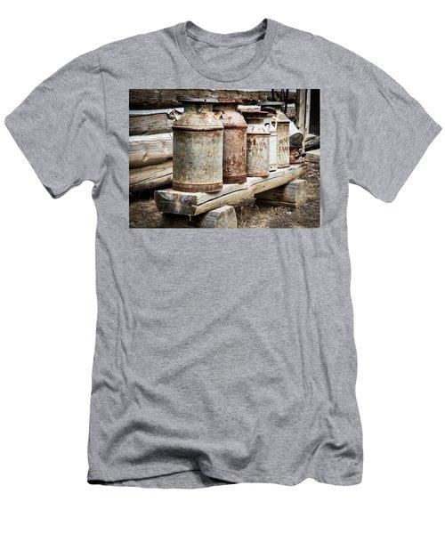 Antique Milk Cans Men's T-Shirt (Athletic Fit)