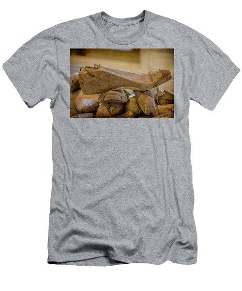 Antique Wooden Shoe Forms - 2 Men's T-Shirt (Athletic Fit)