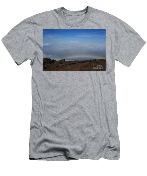 Anuenue - Rainbow At The Ahinahina Ahu Haleakala Sunrise Maui Hawaii Men's T-Shirt (Athletic Fit)