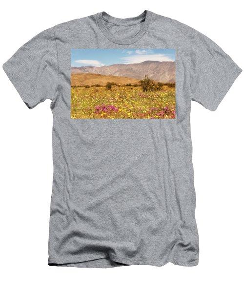 Men's T-Shirt (Athletic Fit) featuring the photograph Anza Borrego Desrt Flowers by Michael Hope