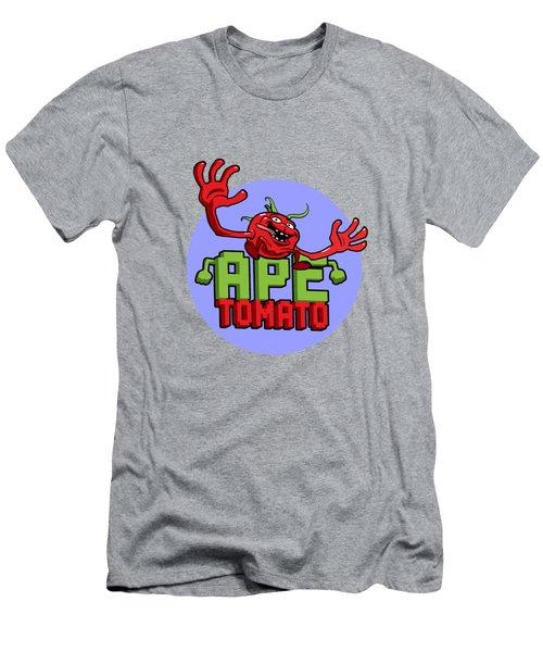 Ape Tomato Blue Purple Men's T-Shirt (Slim Fit) by Nicolas Palmer