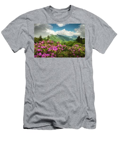 Appalachian Mountains Spring Flowers Scenic Landscape Asheville North Carolina Blue Ridge Parkway Men's T-Shirt (Athletic Fit)