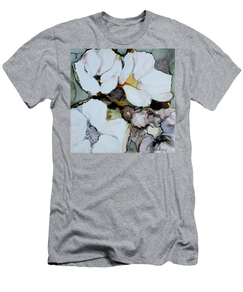 Men's T-Shirt (Slim Fit) featuring the painting Apple Blossoms by Joanne Smoley