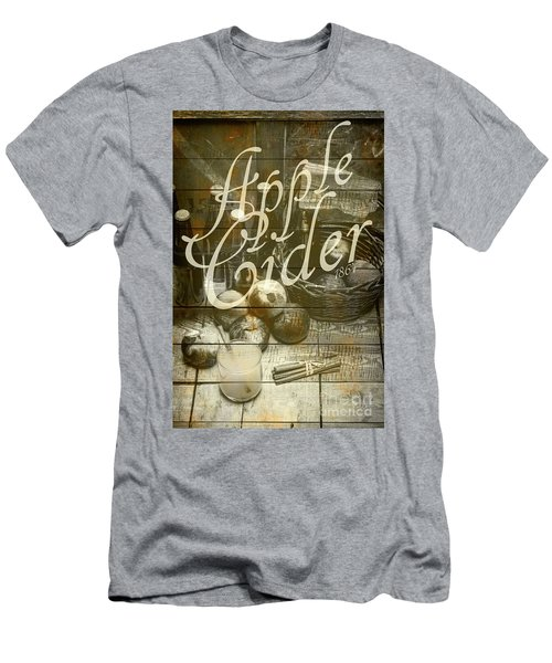 Apple Cider Sign Printed On Rustic Wood Planks Men's T-Shirt (Athletic Fit)