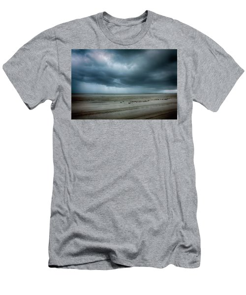 Approaching Storm On Ocracoke Outer Banks Men's T-Shirt (Slim Fit) by Dan Carmichael