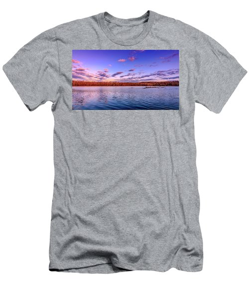 Men's T-Shirt (Athletic Fit) featuring the photograph April Evening At The Lake by Allin Sorenson