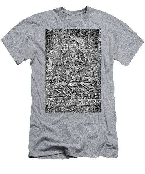 Men's T-Shirt (Athletic Fit) featuring the photograph Apsaras 3, Angkor, 2014 by Hitendra SINKAR