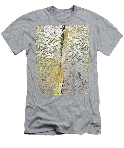 Men's T-Shirt (Slim Fit) featuring the mixed media Aqua Metallic Series Gold Rush by Tony Rubino
