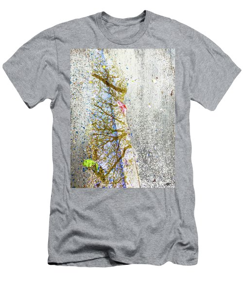 Men's T-Shirt (Slim Fit) featuring the mixed media Aqua Metallic Series Spring by Tony Rubino
