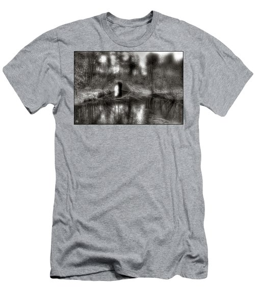 Men's T-Shirt (Athletic Fit) featuring the photograph Aquaduct Monochrome by Wayne King