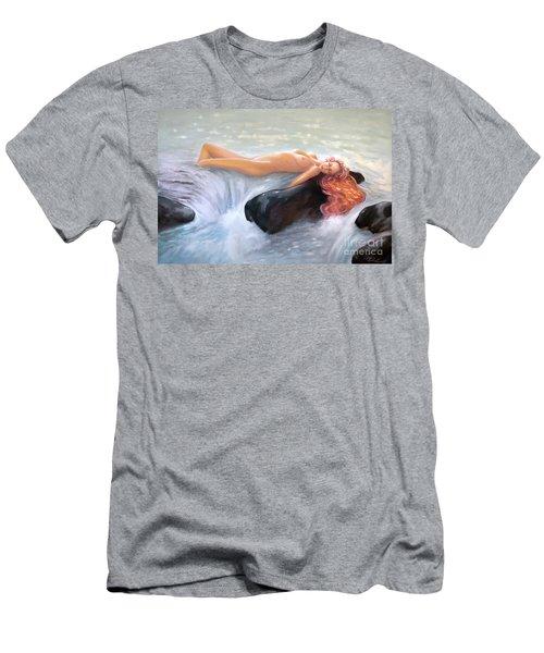 Aquamarine Sea Goddess Men's T-Shirt (Athletic Fit)