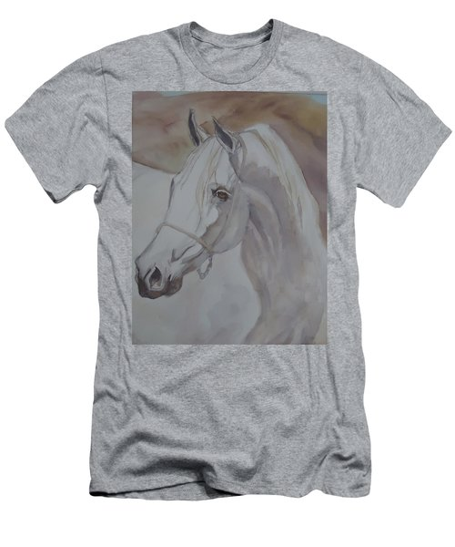 Arab Stallion In The Desert Men's T-Shirt (Athletic Fit)