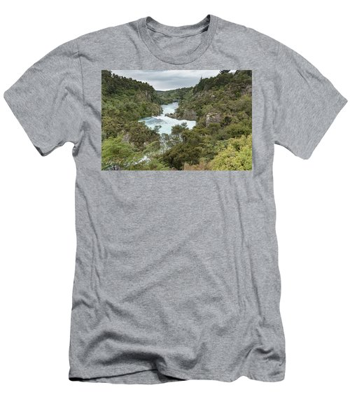 Men's T-Shirt (Athletic Fit) featuring the photograph Aratiatia Rapids by Gary Eason