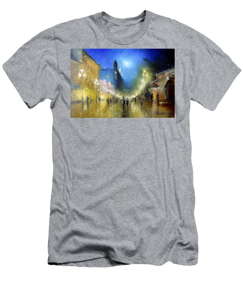Arbat Night Lights Men's T-Shirt (Athletic Fit)