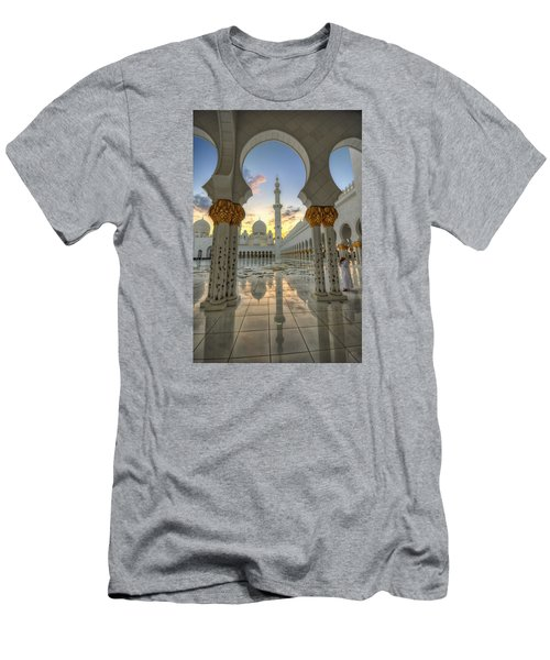Men's T-Shirt (Slim Fit) featuring the photograph Arch Sunset Temple by John Swartz