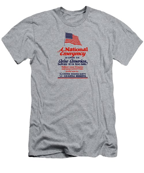 Arise America Before It Is Too Late - Join The Navy Men's T-Shirt (Athletic Fit)