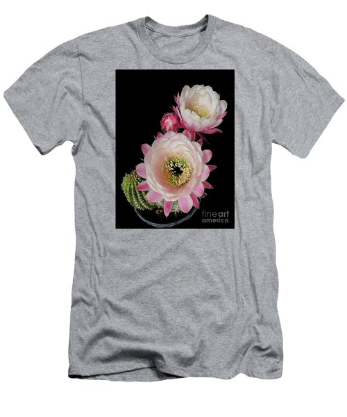Arizona Desert Cactus Flowers Men's T-Shirt (Athletic Fit)