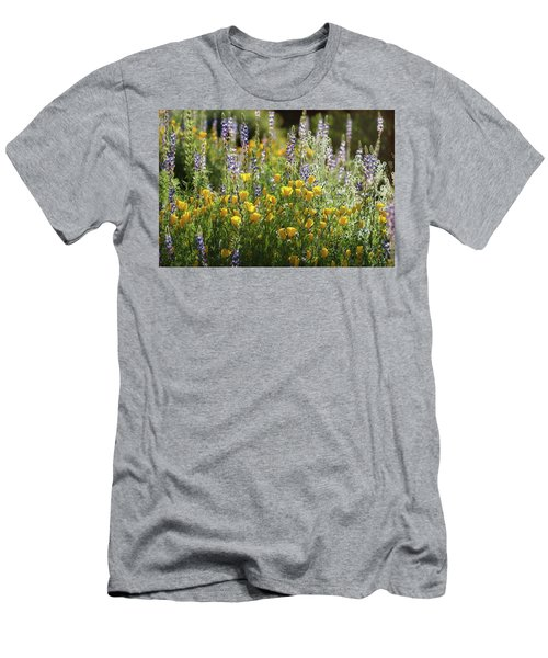 Men's T-Shirt (Slim Fit) featuring the photograph Arizona Spring Wildflowers  by Saija Lehtonen