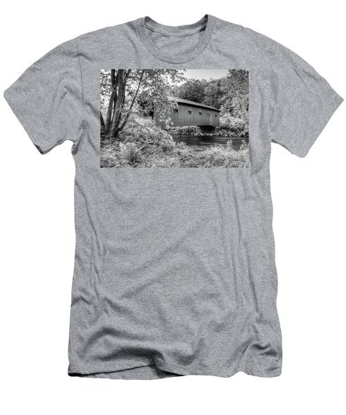 Men's T-Shirt (Athletic Fit) featuring the photograph Arlington Green Covered Bridge by Guy Whiteley